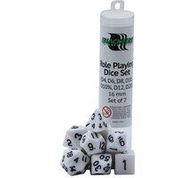 Sada kostek - RPG White (7 kostek, 16 mm) 8594054914960