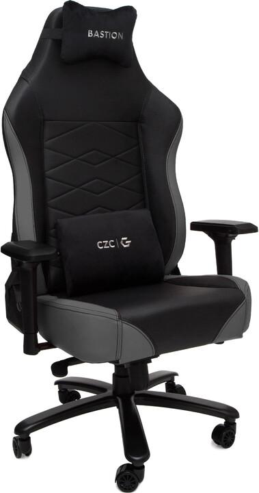 CZC.Gaming Bastion, herní židle, černá/šedá