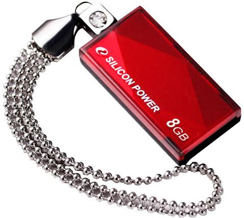 Silicon Power Touch 810 8GB, Červený