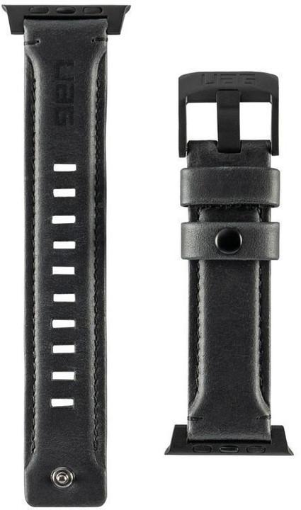 UAG Leather Strap - Apple Watch 44/42 mm, černá
