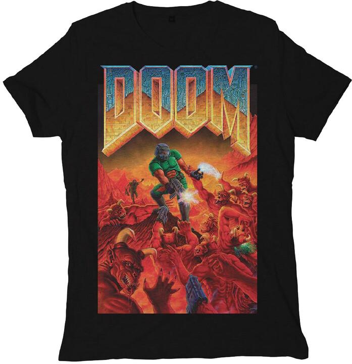 Tričko Doom - Cover (XXL)