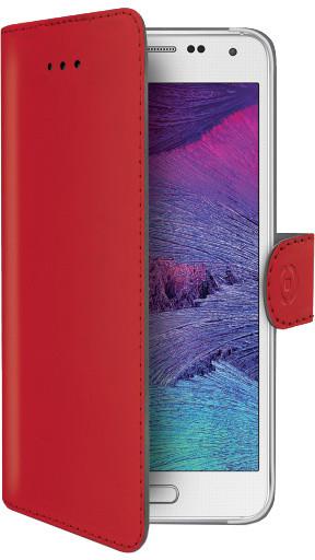 CELLY Wally pouzdro typu kniha pro Samsung Galaxy S6, PU kůže, červená
