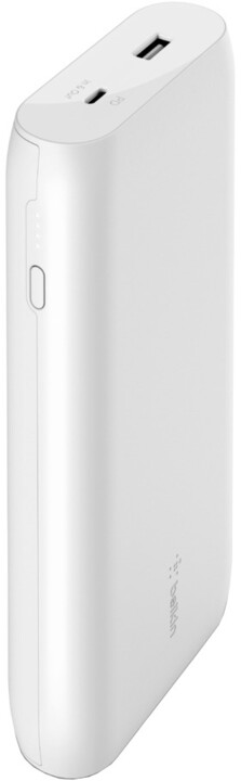 Belkin powerbanka, 20000mAh, USB-C PD, USB-A, 18W, bílá