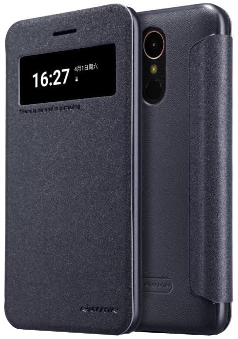 Nillkin Sparkle S-View pouzdro pro LG K10 2017 - černé