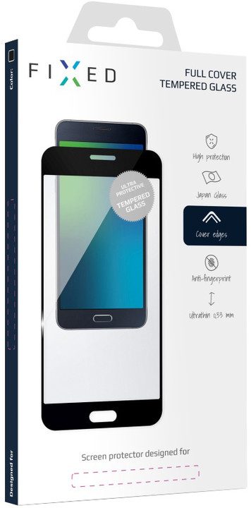 FIXED Full-Cover ochranné tvrzené sklo pro Samsung Galaxy A3 (2017), přes celý displej, černé