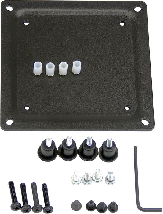 Ergotron - Upevňovací komponent (deska adaptéru) pro obrazovku - ocel, černá