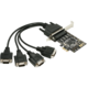 AXAGON PCIe adapter 4x sériový port Fan-out + LP