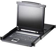 """ATEN CL1016 - 16-portový KVM switch (PS/2 i USB), 17"""" LCD, UK klávesnice - CL1016M-ATA-2XK06UG"""