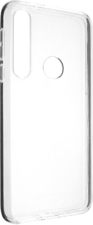 FIXED TPU gelové pouzdro pro Motorola One Macro, čiré
