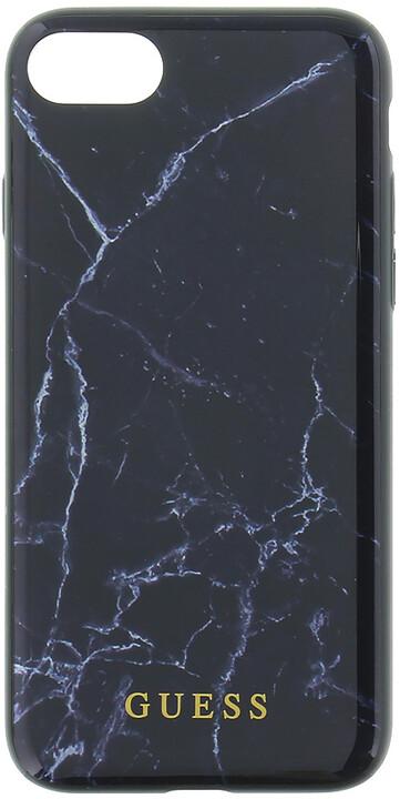 GUESS Marble TPU pouzdro pro iPhone 7/8, Black