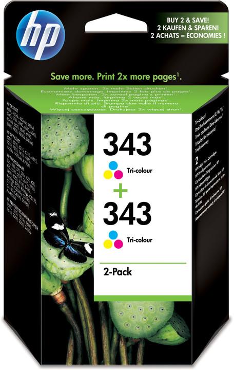 HP CB332EE, č. 343, barevná – ušetřete až 20 % oproti standardní náplni