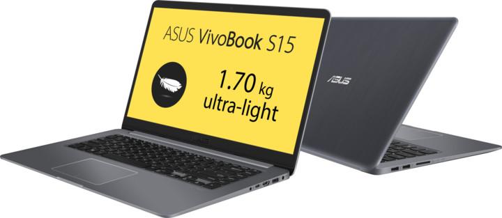 ASUS VivoBook S15 S510UA, šedá