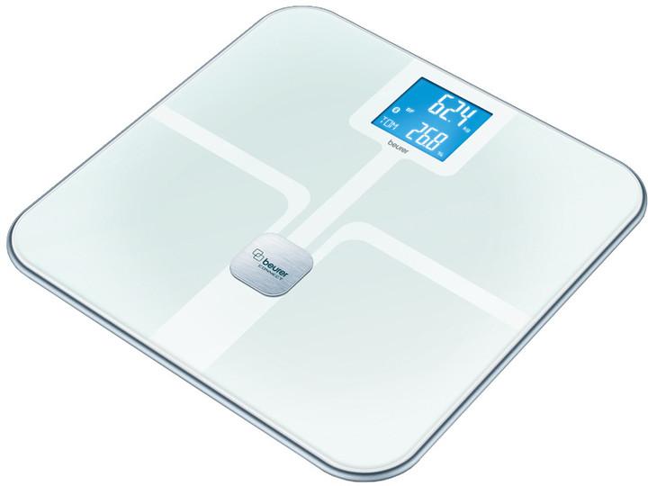 Beurer diagnostická váha s BT přenosem (ITO povrch), bílá