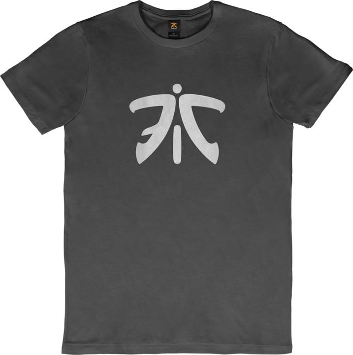 Tričko Fnatic Ess Logo, tmavě šedé (L)