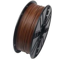 Gembird tisková struna (filament), PLA, 1,75mm, 1kg, hnědá - 3DP-PLA1.75-01-BR