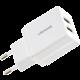 USAMS CC090 T24 2.1A dual USB cestovní nabíječka, bílá (EU Blister)