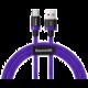 Baseus kabel pro rychlonabíjení a přenos dat HW USB Type-C 40W 2m, fialová