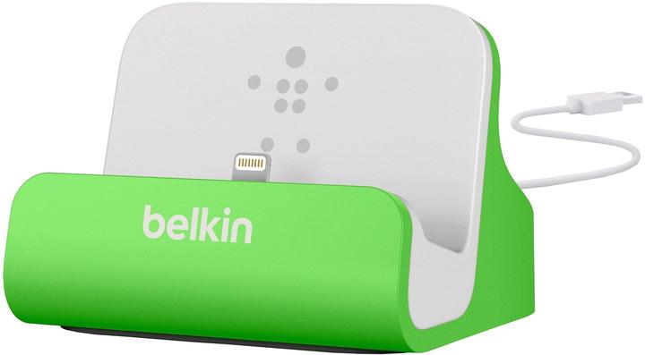 Belkin Mixit nabíjecí a sychronizační dok pro iPhone 5/6/7, vč. light. konektoru, zelená