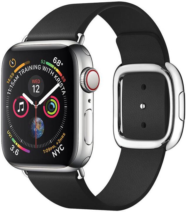 COTEetCI kožený řemínek Nobleman pro Apple Watch, magnetický, 38 - 40mm, černá