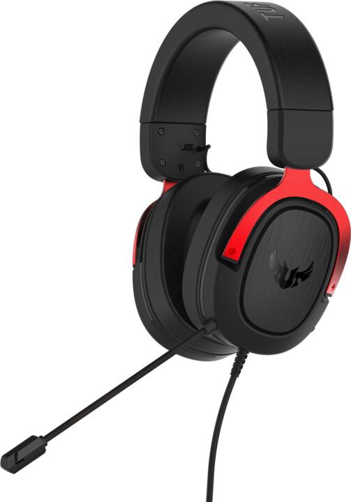 ASUS TUF Gaming H3, černá/červená