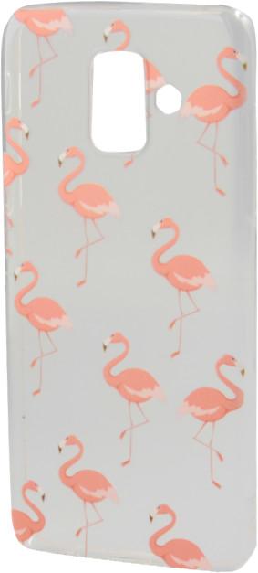 EPICO pružný plastový kryt pro Samsung Galaxy A6 (2018), pink flamingo