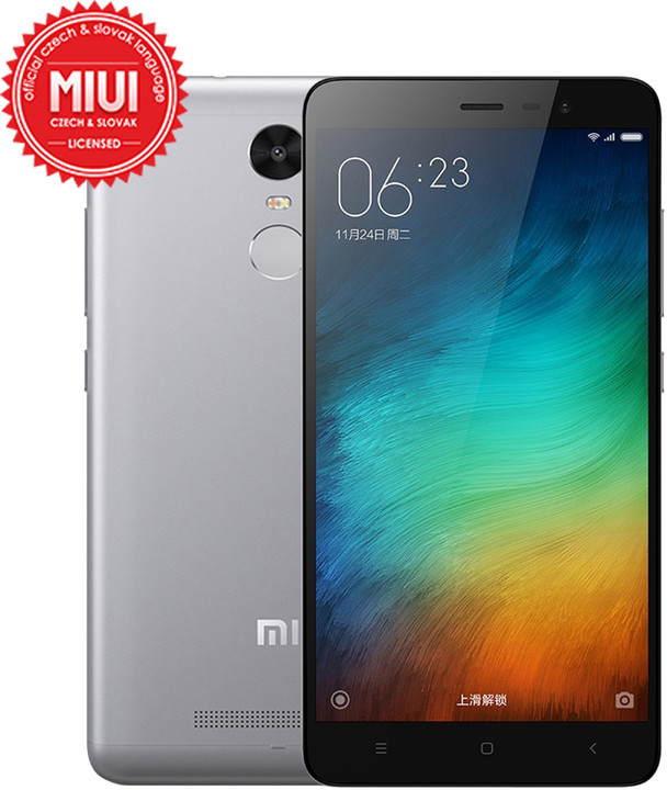 Xiaomi Note 3 - 32GB, šedá