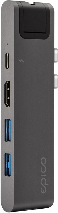 EPICO USB Type-C HUB PRO II, šedá