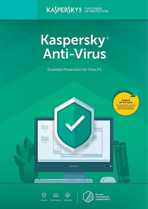 Kaspersky Anti-Virus 2019 CZ pro 2 zařízení na 12 měsíců, nová licence