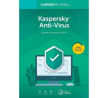 Kaspersky Anti-Virus 2019 CZ pro 1 zařízení na 12 měsíců, nová licence