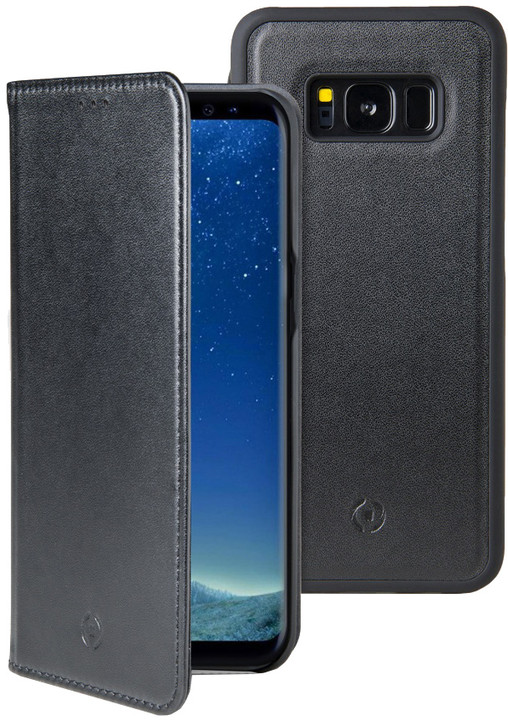 CELLY GHOSTWALLY pouzdro typu kniha pro Samsung Galaxy S8, kompatibilní s GHOST držáky, černé