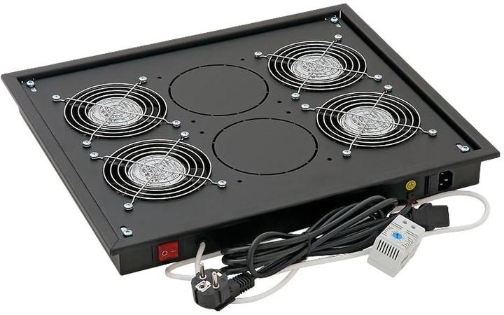 Triton ventilační jednotka RAB-CH-X04-X3, 4x ventilátor, 220V/60W, černá