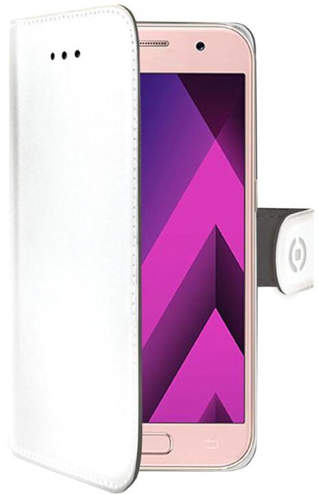 CELLY Wally Pouzdro typu kniha pro Samsung Galaxy A3 (2017), PU kůže, bílé