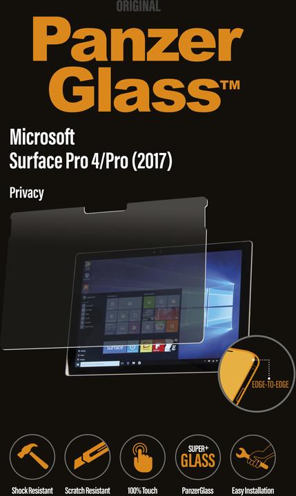 PanzerGlass Edge-to-Edge Privacy pro Microsoft Surface Pro 4/Pro 5/Pro 6/ Pro 7, čiré