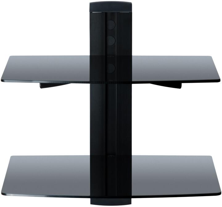 CONNECT IT G2 držák/2x skleněné police pro DVD/Set Top Box