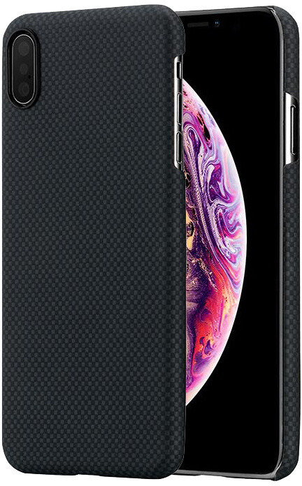 Pitaka Aramid case iPhone XS Max, černá/šedá