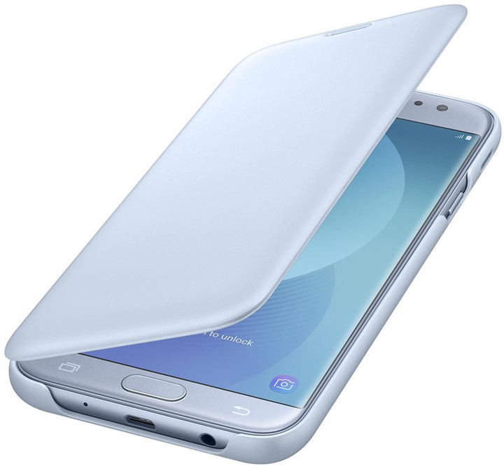 Samsung Galaxy J7 Flipové pouzdro, Wallet Cover, modré