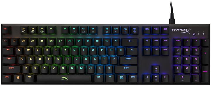 HyperX Alloy FPS RGB, Kailh Speed Silver, černá, US