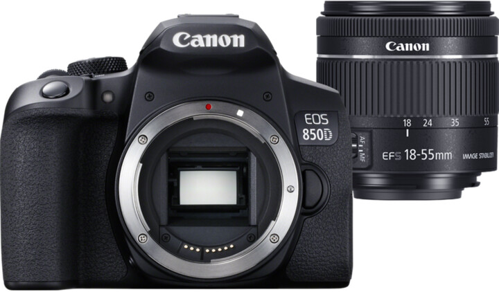 Canon EOS 850D + EF-S 18-55mm f/4-5,6 IS STM