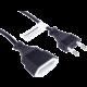 PremiumCord kabel síťový prodlužovací dvojvidlice 230V 3m