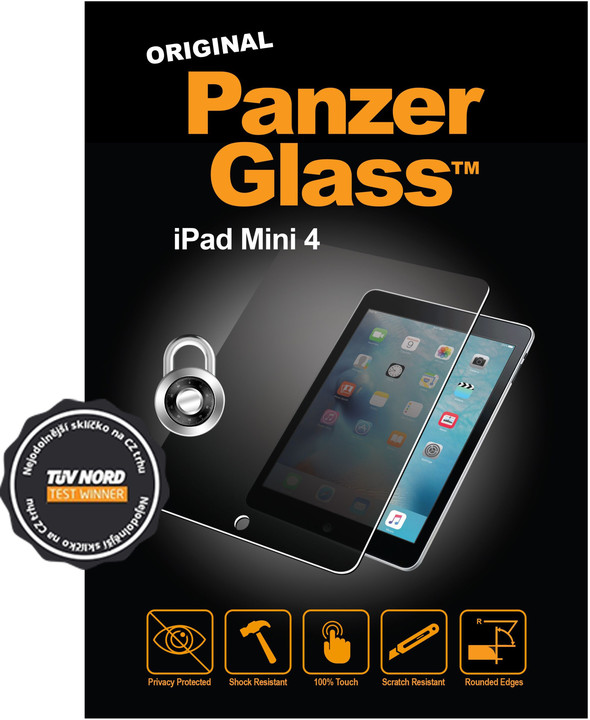 PanzerGlass Edge-to-Edge Privacy pro Apple iPad mini 4, čiré