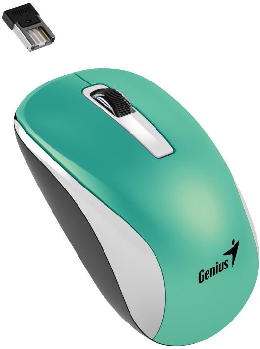 Genius NX-7010, bezdrátová, bílá/tyrkysová