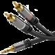 PremiumCord stíněný kabel stereo Jack 3.5mm - 2x CINCH, M/M, HQ, 1.5m, černá