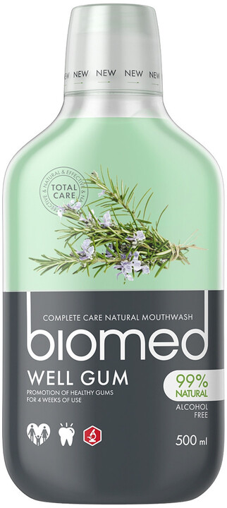 Ústní voda Biomed Well Gum, herbal, 500 ml