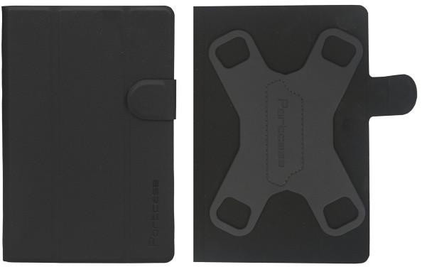 """PORTCASE pouzdro na tablet PC/ TBL-470BK, 7-8"""", EKO kůže, černé"""