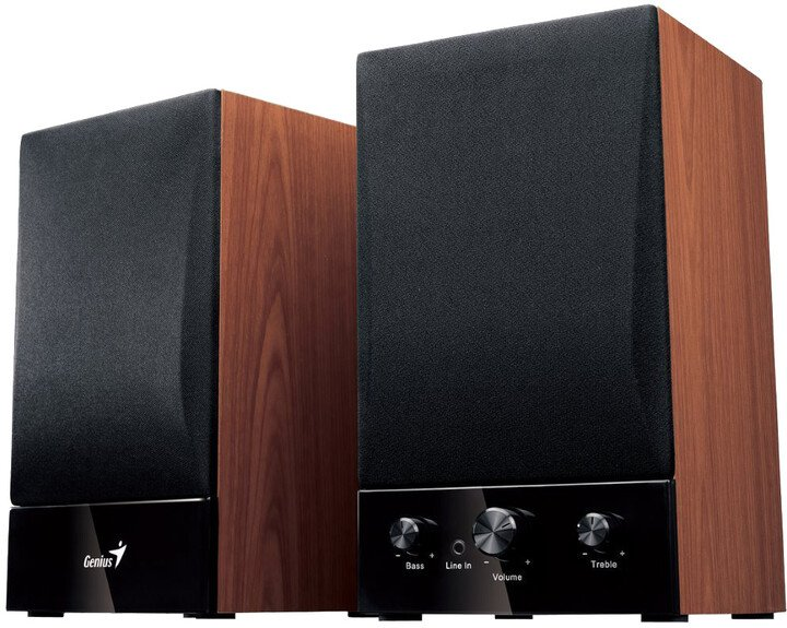 Genius SP-HF 1250B Ver. II, 2.0, dřevěné