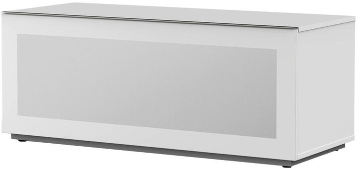 Meliconi 500406 TV stolek, skleněný 12050F, bílá