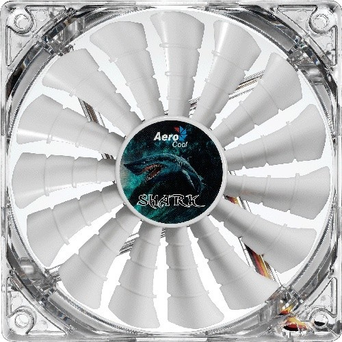 Aerocool Shark Fan, 120 mm, bílá