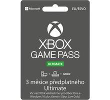 Microsoft Xbox Game Pass Ultimate 3 měsíce - elektronicky  + Nakupte alespoň za 2 000 Kč a získejte 100Kč slevový kód na LEGO (kombinovatelný, max. 1ks/objednávku)