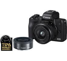 Canon EOS M50, černá + EF-M 15-45mm IS STM + EF-M 22mm STM - 2680C032