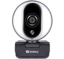 Sandberg Streamer USB Webcam Pro, stříbrná - 134-12